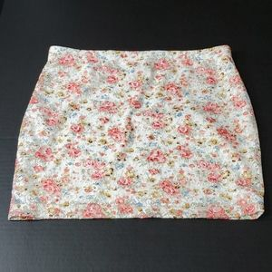 Zenana Outfitters Floral Lace Mini Skirt